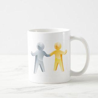 Working together concept coffee mug