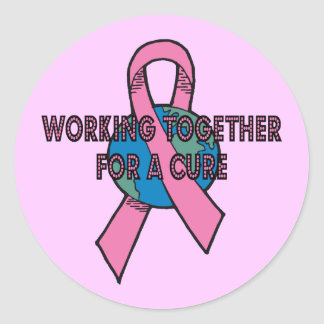 Working Together Round Stickers