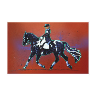 Working Trot Wrapped Canvas