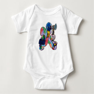 Working Warrior Baby Bodysuit