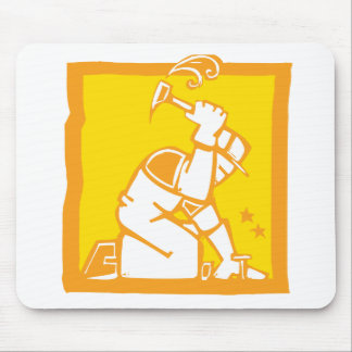 Workman with a Hammer Mouse Pad