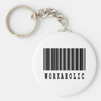 workoholic basic round button key ring