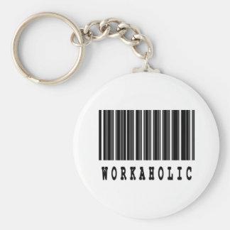 workoholic basic round button key ring