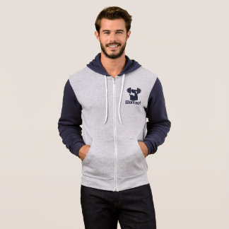 Workout blue classic pointed hood hoodie