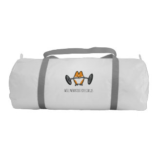 Workout Corgi Duffel Bag