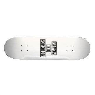 Workout Day fitness Z2y22 19.7 Cm Skateboard Deck