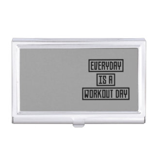Workout Day fitness Z2y22 Business Card Holder