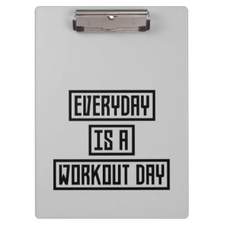 Workout Day fitness Z2y22 Clipboard