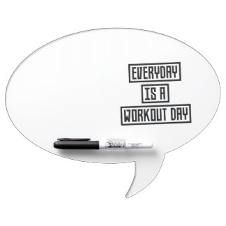 Workout Day fitness Z2y22 Dry Erase Board