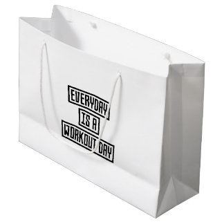 Workout Day fitness Z2y22 Large Gift Bag