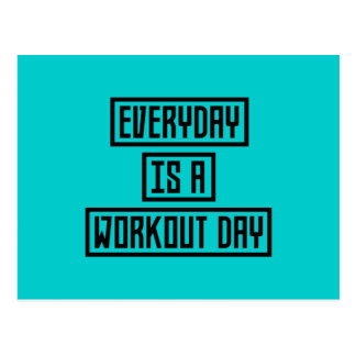 Workout Day fitness Z2y22 Postcard