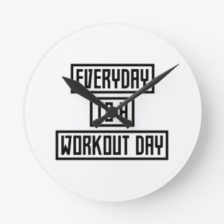 Workout Day fitness Z2y22 Round Clock
