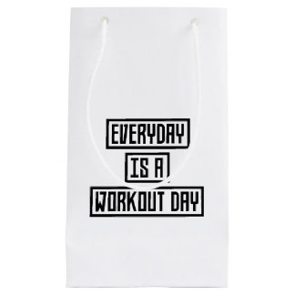 Workout Day fitness Z2y22 Small Gift Bag