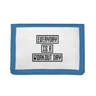 Workout Day fitness Z2y22 Tri-fold Wallet