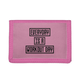 Workout Day fitness Z2y22 Tri-fold Wallets