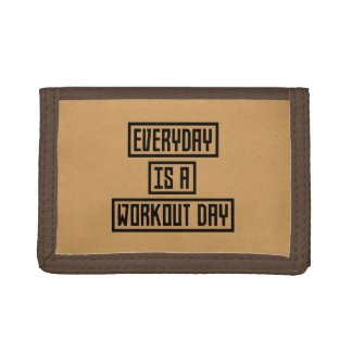 Workout Day fitness Z2y22 Trifold Wallet