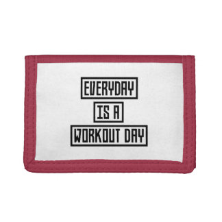 Workout Day fitness Z2y22 Trifold Wallets