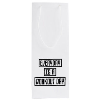 Workout Day fitness Z2y22 Wine Gift Bag