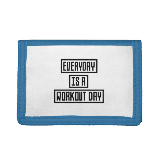 Workout Day fitness Zx41w Tri-fold Wallet