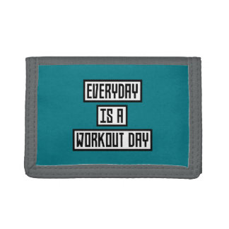 Workout Day fitness Zx41w Tri-fold Wallets