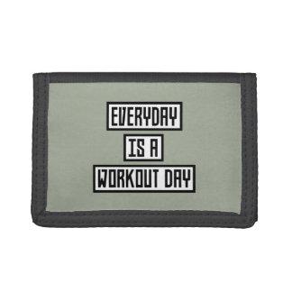 Workout Day fitness Zx41w Tri-fold Wallets