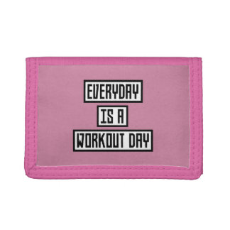 Workout Day fitness Zx41w Trifold Wallets