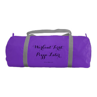 Workout First, Pizza Later Duffle Bag Gym Duffel Bag