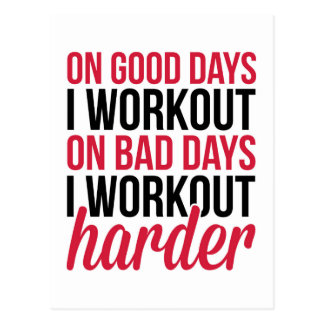 Workout Harder Gym Quote Postcard