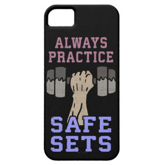 Workout Humor - Practice Safe Sets - Novelty Gym Barely There iPhone 5 Case