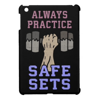 Workout Humor - Practice Safe Sets - Novelty Gym iPad Mini Cover