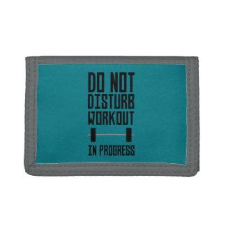 Workout in Progress  Zzu78 Trifold Wallets
