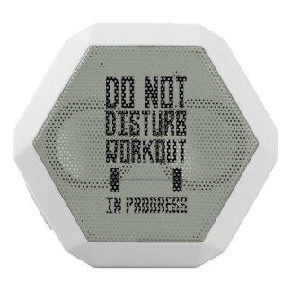 Workout in Progress  Zzu78 White Bluetooth Speaker