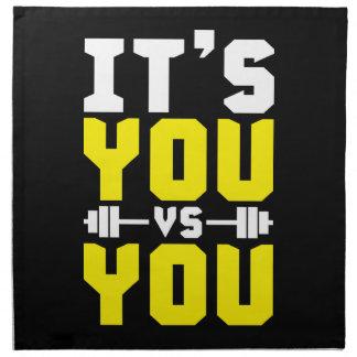 Workout Inspiration - It's You vs You - Gym Napkin