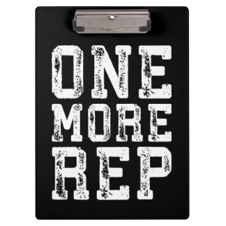 Workout Inspiration - One More Rep - Motivational Clipboard