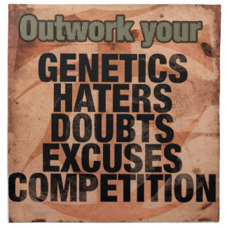 Workout Inspirational Words - Outwork - Motivation Napkin