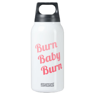 Workout Inspiring Quote Burn Baby White 0.3 Litre Insulated SIGG Thermos Water Bottle