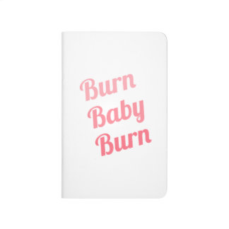 Workout Inspiring Quote Burn Baby White Journal
