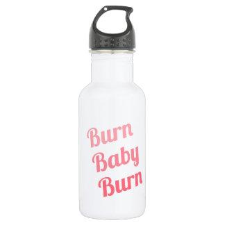 Workout Inspiring Quote Burn Baby White 532 Ml Water Bottle