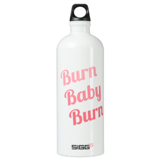 Workout Inspiring Quote Burn Baby White SIGG Traveller 1.0L Water Bottle