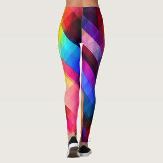 Workout Leggings Girls Women Colorful Graphic