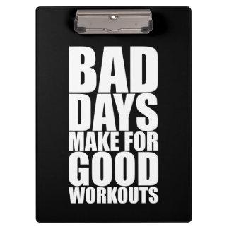 Workout Motivation - Bad Days Make Good Workouts Clipboard