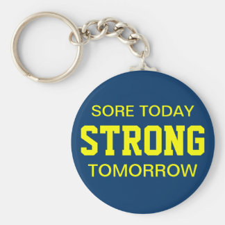 Workout Motivation Basic Round Button Key Ring