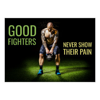 Workout Motivation | Inspirational Fighter Quote Poster
