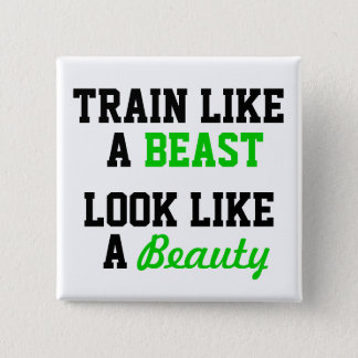 Workout Motivational 15 Cm Square Badge