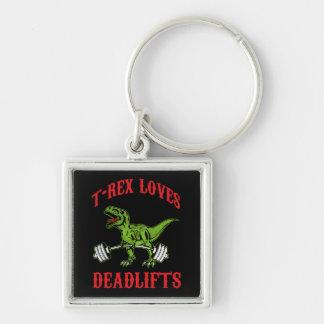 Workout - T-Rex Loves Deadlifts - Bodybuilding Key Ring