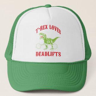 Workout - T-Rex Loves Deadlifts - Bodybuilding Trucker Hat
