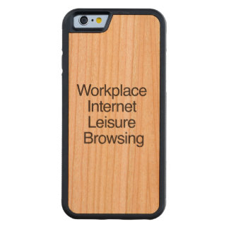 Workplace Internet Leisure Browsing.ai Cherry iPhone 6 Bumper Case