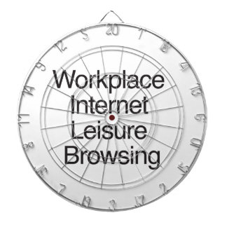 Workplace Internet Leisure Browsing Dartboard With Darts