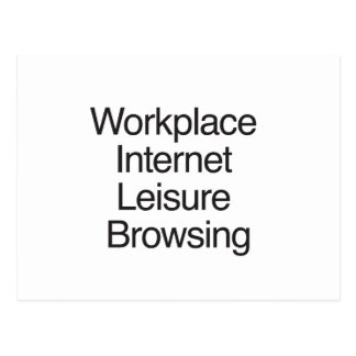 Workplace Internet Leisure Browsing Postcard