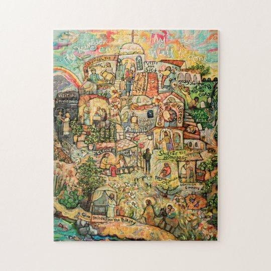 Works of Mercy Catholic Art Puzzle